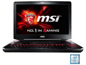 """MSI GT Series GT80S TITAN SLI-012 Gaming Laptop 6th Generation Intel Core i7-6820HK (2.7 GHz) 16 GB Memory 1 TB HDD 256 GB SSD NVIDIA GeForce GTX 970M SLI 6 GB GDDR5 18.4"""" Windows 10 Home"""