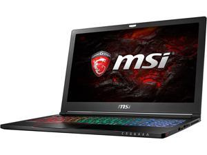 "MSI GS Series GS63STEALTH PRO-016 15.6"" Intel Core i7 7th Gen 7700HQ (2.80 GHz) NVIDIA GeForce GTX 1050 Ti 16 GB Memory 256 GB SSD 1 TB HDD Windows 10 Home 64-Bit Gaming Laptop"