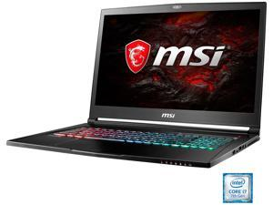 "MSI GS Series GS73VR STEALTH PRO-224 Gaming Laptop Intel Core i7 7th Gen 7700HQ (2.80 GHz) 16 GB Memory 2 TB HDD 256 GB SSD NVIDIA GeForce GTX 1060 6 GB GDDR5 17.3"" Windows 10 Home"