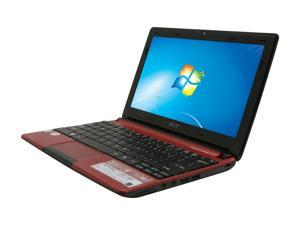 "Acer Aspire One AOD257-13836 Burgandy Red 10.1"" WSVGA Netbook"