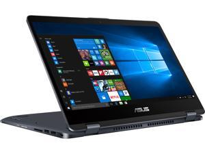"ASUS VivoBook Flip 14 TP410UA-DB71T 14"" 2-in-1 Full HD Touchscreen Laptop, Intel Core i7-7500U 2.7 GHz (4M Cache, Turbo to 3.5 GHz) Processor, 8 GB DDR4 RAM, 1 TB 5400 RPM HDD. Windows 10 Home"