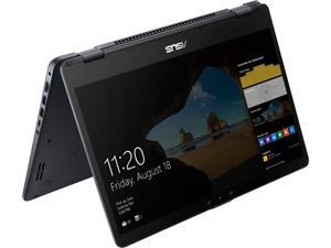 "ASUS Vivobook Flip TP510UA-DH71T Intel Core i7 8th Gen 8550U (1.80 GHz) 8 GB DDR4 Memory 1 TB HDD Intel UHD Graphics 620 15.6"" Touchscreen 1920 x 1080 Convertible 2-in-1 Laptop Windows 10 Home 64-Bit"