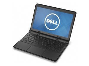 "Dell 11-3120 Intel Celeron N2840 X2 2.16GHz 4GB 16GB SSD 11.6"" Chrome OS,Black(Scratch and Dent)"