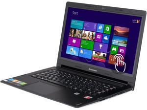 "Lenovo Laptop IdeaPad S415 (59405902) AMD A6-Series A6-5200 (2.00 GHz) 4 GB Memory 500 GB HDD AMD Radeon HD 8400 14.0"" Touchscreen Windows 8.1"