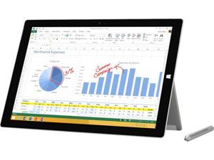 "Microsoft Surface Pro 3 Intel Core i5 4300U (1.90 GHz) 4 GB Memory 128 GB SSD 12.0"" 2160 x 1440 Grade A Tablet Windows 10 Pro Silver"