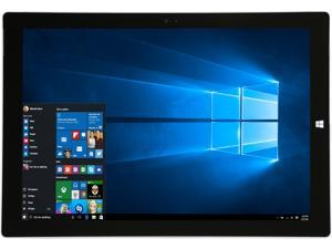 "Microsoft Surface Pro 3 Intel Core i5 4300U (1.90 GHz) 4 GB Memory 128 GB SSD 12.0"" 2160 x 1440 Grade C Tablet Windows 10 Pro Silver"