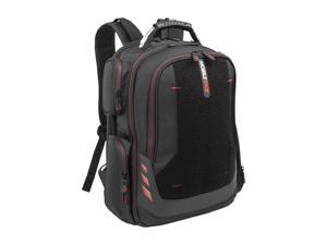"Mobile Edge - Core Gaming Checkpoint Friendly 18.4"" Backpack w/Velcro Front Panel - Black with Red Trim"