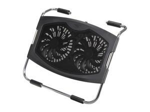 Logisys Computer Dual 140mm Fan Laptop Cooler Pad Model NP2001BK