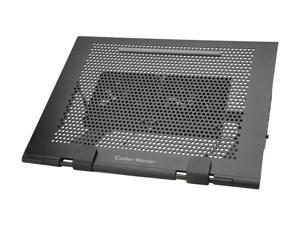"Cooler Master NotePal U Stand Laptop Cooling Pad Aluminum Base, up to 17"" (2 x 100mm Configurable Fans)"