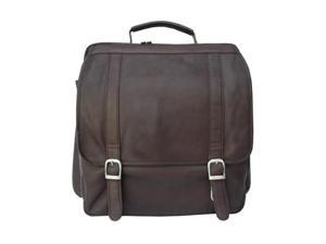 Piel LEATHER 2620-CHC Vertical Backpack Chocolate