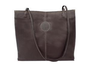 Piel LEATHER 2344-CHC Medium Market Bag Chocolate