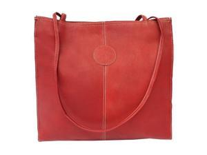 Piel LEATHER 2344-RD Medium Market Bag Red