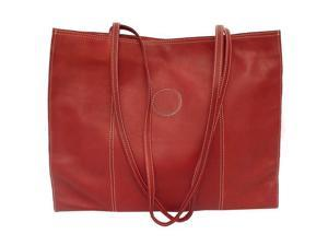 Piel LEATHER 2507-RD Carry-All Market Bag Red