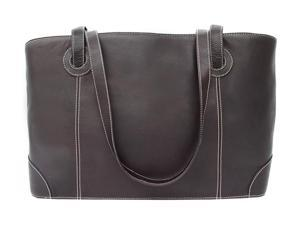 Piel LEATHER 2404-CHC Shopping Tote  Chocolate