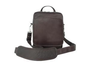 Piel LEATHER 2630-CHC Traveler's Men's Bag - Chocolate