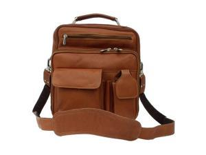 Piel LEATHER 9927-SDL DELUXE MEN'S BAG - Saddle