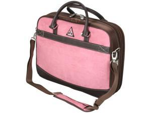 "Mobile Edge Pink ScanFast Checkpoint Friendly Element Briefcase - 16"" PC/17"" Mac Model MESFEBX"