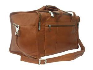 Piel LEATHER 2025SDL Travel Duffel W/ Side Pocket - Saddle