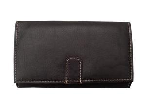 Piel LEATHER 2600-CHC Chocolate Deluxe Ladies Wallet