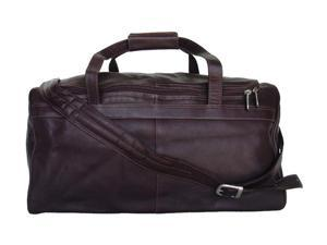 Piel LEATHER 9710-CHC Traveler's Select Small Duffel Chocolate