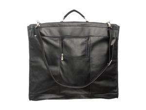 "Piel LEATHER 9428-BLK 40"" Elite Garment Bag Black"