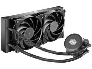 MasterLiquid Lite 240 Liquid Cooling System with Dual Dissipation Pump and two 120mm Air Balance Fan Design by Cooler Master