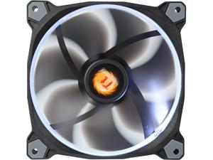 Thermaltake Riing 14 Series High Static Pressure 140mm Circular White LED Ring Case/Radiator Fan CL-F039-PL14WT-A