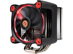 Thermaltake CL-P021-CA12RE-A 120mm Hydraulic Riing Silent 12 Pro Red LED 170W Intel/AMD PWM Fan Black CPU Cooler