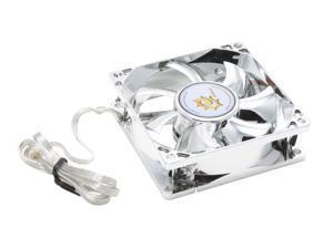Sunbeam SALF-08-SV Blue LED LED Light Case Cooling Fan,Silver