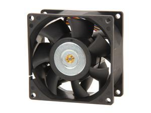 EVERCOOL EC8038HH12BP 80mm Dual Ball bearing 4 Pin PWM fan, Long life bearing, Low noise & high airflow, Low pollution