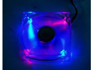 COOLMAX CM-825-2B2R Multi-Color LED Case Cooling Fan