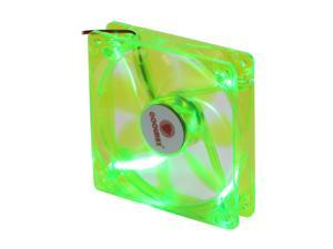 COOLMAX CMF-1225-GN UV Crystal LED Cooling Case Fan