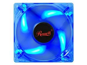 Rosewill 80mm Computer Case Fan (Case Cooling Fan) - Transparent Frame & 4 Blue LEDs, Sleeve Bearing, Silent Fan with LP4 ...