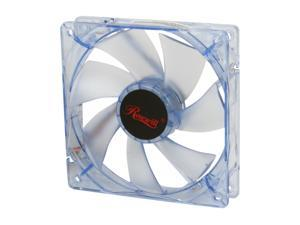 Rosewill 120mm Computer Case Fan (Case Cooling Fan) - Blue Frame & 4 Blue LEDs, Sleeve Bearing, Silent Fan with LP4 Adapter&#59; ...