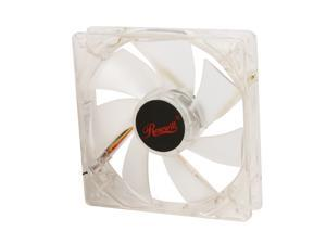 Rosewill 120mm Computer Case Fan (Case Cooling Fan) - Transparent Frame & 4 White LEDs, Sleeve Bearing, Silent Fan with LP4 ...