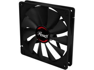 Rosewill RAWP-141411 V2 - Seal, Silent, IP56 Dust Resistant Splash-Proof 140 mm Case Fan - Advanced Teflon Nano Bearing with Noise Cancelation Adapter