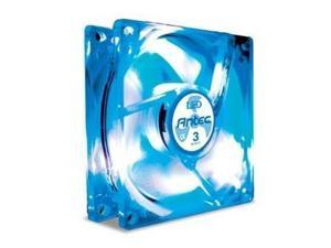 Antec 761345-75020-2 80mm Blue LED TriCool Case Fan