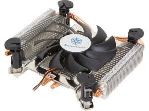 SilverStone Argon Series AR04 Low Profile CPU Cooler with 80mm Fan for Socket LGA1150/1156/1155