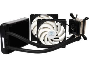 SILVERSTONE TD03-E Durable High-Performance All-In-One Liquid CPU Cooler with Dual Adjustable 120mm PWM Fans