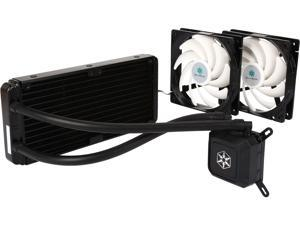 SILVERSTONE TD02-LITE Durable High-Performance All-In-One Liquid CPU Cooler with Dual Adjustable 120mm PWM Fans