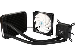 SILVERSTONE TD03-LITE Durable High-Performance All-In-One Liquid CPU Cooler with Dual Adjustable 120mm PWM Fans