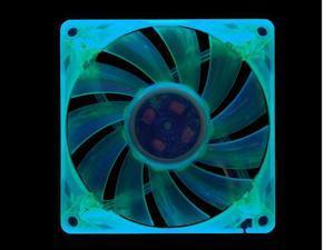 HIPER HFF-1G08G-UV Blacklight Reactive 80mm Green Case Fan