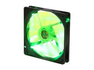 APEVIA  CF14SL-BGN  140mm UV green LED fan w/3-pin and 4-pin connectors and black grill