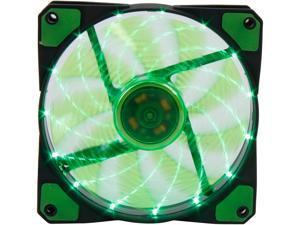 APEVIA CF12SL-SGN Green LED Case Fan w/ Anti-Vibration Rubber Pads