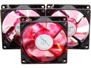 APEVIA CF308SL-BRD Red LED Case Fan (3-pk)