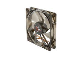 XIGMATEK FCB (Fluid Circulative Bearing) Cooling System XLF-F1254 120mm White LED Black Case Fan PSU Molex Adapter/extender included
