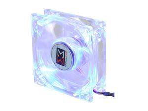 XIGMATEK FCB (Fluid Circulative Bearing) Cooling System Crystal Series CLF-F8251 80mm Blue LED Case Fan PSU Molex Adapter/extender ...