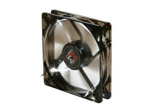 XIGMATEK FCB (Fluid Circulative Bearing) Cooling System XLF XLF-F1255 120mm Power Management White LED Black Case Fan PSU Molex Adapter/extender included
