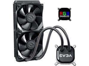 EVGA CLC 240 Liquid / Water CPU Cooler, 400-HY-CL24-V1, 240mm Radiator, RGB LED with EVGA Flow Control Software