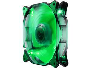 COUGAR 12CM Green LED Hydraulic (Liquid) Bearing Ultra Silent Fan 1200RPM, 64.4CFM, 16.6dBA